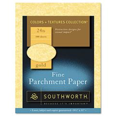 Southworth® Parchment Specialty Paper, 24 lb, 8.5 x 11, Gold, 100/Pack