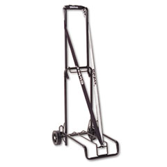 Luggage Cart, 125 lb Capacity, 13 x 10 Platform, Black Steel