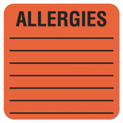 Tabbies® Allergy Warning Labels Thumbnail