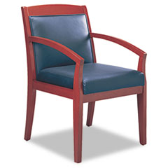 Safco® Mayline® Mercado™ Series Leather Seating Wood Guest Chair Thumbnail