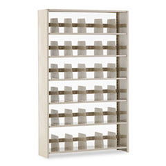 Snap-Together Steel Six-Shelf Closed Starter Set, 48w x 12d x 76h, Sand