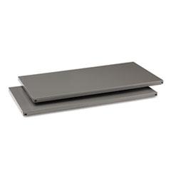 Tennsco Commercial Steel Shelving, Five-Shelf, 36w x 18d x 75h, Medium Gray