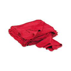 General Supply Red Shop Towels, Cloth, 14 x 15, 50/Pack