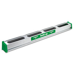 Unger® Hold Up Aluminum Tool Rack, 36w x 3.5d x 3.5h, Aluminum/Green