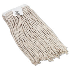 Boardwalk® Cut-End Wet Mop Head, Cotton, No. 16 Size, White BWK2016CEA