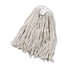 Boardwalk® Cut-End Wet Mop Head, Cotton, White, #20, 12/Carton