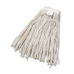 Boardwalk® Cut-End Wet Mop Head, Cotton, No. 24, White 12/Carton