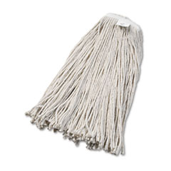 Boardwalk® Cut-End Wet Mop Head, Cotton, No. 32, White