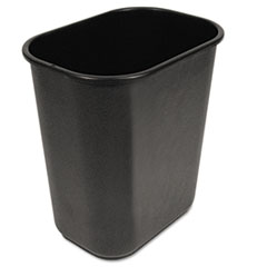 Boardwalk® Soft-Sided Wastebasket, 28qt, Black BWK28QTWBBLA