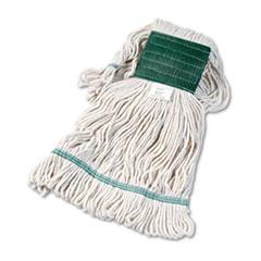"Boardwalk® Super Loop Wet Mop Head, Cotton/Synthetic Fiber, 5"" Headband, Medium Size, White"