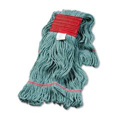 "Boardwalk® Super Loop Wet Mop Head, Cotton/Synthetic Fiber, 5"" Headband, Large Size, Green"