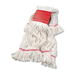 "Boardwalk® Super Loop Wet Mop Head, Cotton/Synthetic Fiber, 5"" Headband, Large Size, White"