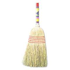 "Boardwalk® Maid Broom, Mixed Fiber Bristles, 42"" Wood Handle, Natural, 12/Carton BWK920YCT"