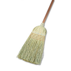 "Boardwalk® Warehouse Broom, Yucca/Corn Fiber Bristles, 56"" Overall Length, Natural"