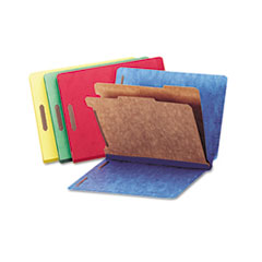 Universal® Deluxe Six-Section Colored Pressboard End Tab Classification Folders