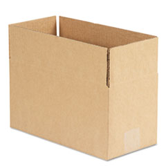 General Supply Brown Corrugated - Fixed-Depth Shipping Boxes, 12l x 6w x 6h, 25/Bundle UFS1266