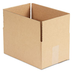 General Supply Brown Corrugated - Fixed-Depth Shipping Boxes, 12l x 8w x 6h, 25/Bundle UFS1286