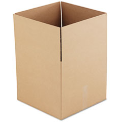 General Supply Brown Corrugated - Fixed-Depth Shipping Boxes, 18l x 18w x 16h, 15/Bundle UFS181816