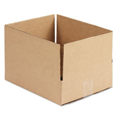 General Supply Brown Corrugated - Fixed-Depth Shipping Boxes, 12l x 10w x 3h, 25/Bundle UFS12103