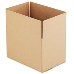 General Supply Brown Corrugated - Fixed-Depth Shipping Boxes, 18l x 12w x 12h, 25/Bundle UFS181212