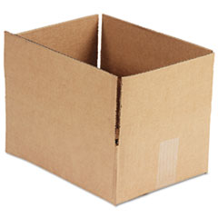 General Supply Brown Corrugated - Fixed-Depth Shipping Boxes, 12l x 9w x 4h, 25/Bundle UFS1294