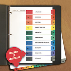 10-Tab Universal Index Dividers