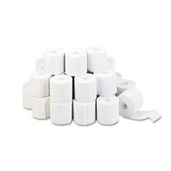 """Impact & Inkjet Print Bond Paper Rolls, 0.5"""" Core, 2.25"""" x 130ft, White, 100/Carton"""