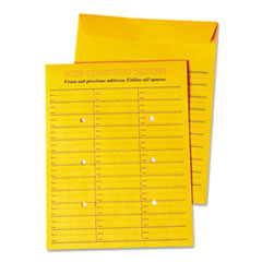 Universal® Deluxe Interoffice Press & Seal Envelopes, #97, Two-Sided Three-Column Format, 10 x 13, Brown Kraft, 100/Box