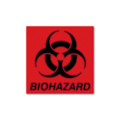 Rubbermaid® Commercial Biohazard Decal Thumbnail