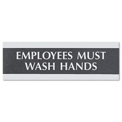 Headline® Sign Century Series Office Sign, Employees Must Wash Hands, 9 x 3