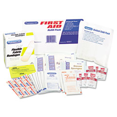 First Aid Refill Pack w/Most Frequently-Used Products, 96 Pieces/Pack