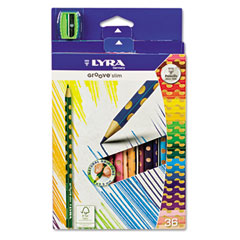 Groove Slim Colored Pencils, Assorted, 36 per Pack
