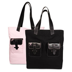Day-Timer® Pink Ribbon Reversible Canvas Tote