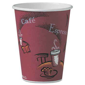 Dart® Paper Hot Drink Cups in Bistro® Design Thumbnail
