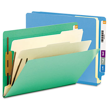 Smead® Colored End Tab Classification Folders with Dividers Thumbnail
