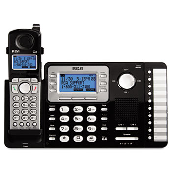 RCA® ViSYS™ Cordless Expandable Two-Line Phone System Thumbnail