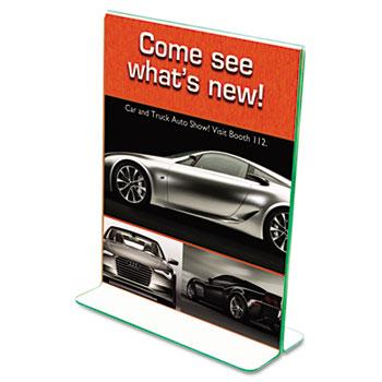 deflecto® Superior Image® Premium Green Edge Sign Holder Thumbnail