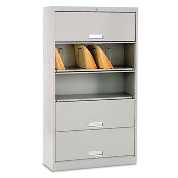 HON® Brigade® 600 Series Five-Shelf File with Receding Doors Thumbnail