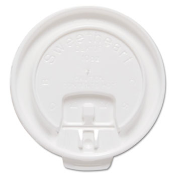 Dart® Lift Back & Lock Tab Cup Lids For Trophy® Insulated Thin-Wall Foam Hot/Cold Cups Thumbnail