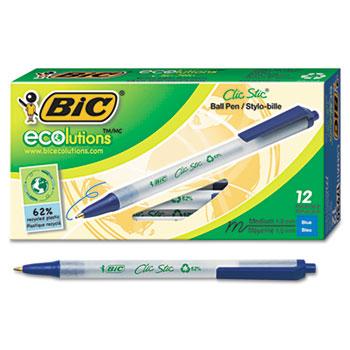BIC® Ecolutions® Clic Stic® Retractable Ballpoint Pen Thumbnail