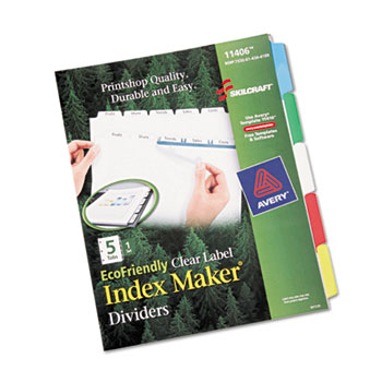 AbilityOne® SKILCRAFT® Avery® Index Maker Dividers Thumbnail