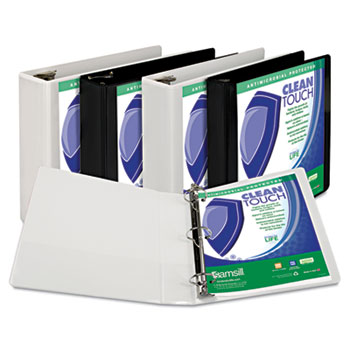 Samsill® Clean Touch™ Locking Round Ring View Binder Protected with an Antimicrobial Additive Thumbnail