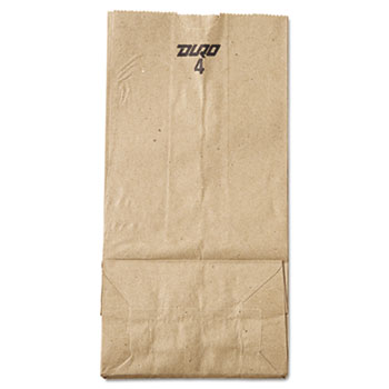 #4 Paper Grocery Bag, 30lb Kraft, Standard 5 x 3 1/3 x 9 3/4, 500 bags