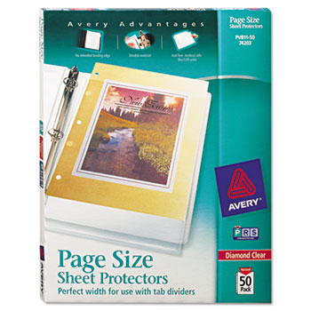 Top load poly 3 hole punched sheet protectors by avery ave74203 ave74203 thumbnail colourmoves