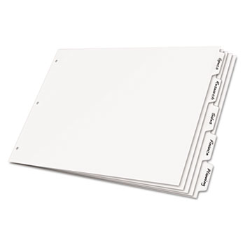 Cardinal® Write 'n Erase® Tabloid Index Dividers Thumbnail