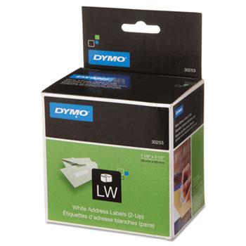 labelwriter 2 up address labels by dymo dym30253 ontimesupplies com
