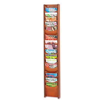 Safco® Solid Wood Wall-Mount Literature Display Rack Thumbnail