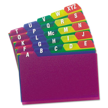 Oxford™ Durable Poly A-Z Card Guides Thumbnail