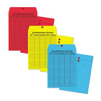 Quality Park™ Colored Paper String & Button Interoffice Envelope Thumbnail