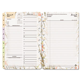 blooms dated daily planner refill by franklincovey fdp3544